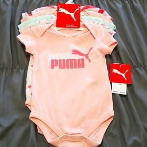 Puma baby girl 5 bodysuits